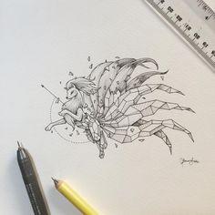 Kerby Rosanes,art,арт,красивые картинки,geometric beasts,покемоны,фэндомы,ninetails,mewtwo