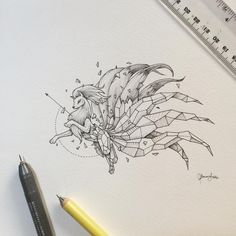 The reception to Mewtwo few days ago was intense! My email was fired  with tons of requests to do more Pokemon!  The Geometric Beasts series will still focus on animals and I'm creating at least one everyday. Most will not be posted though and will be included in the possible book about the series I'm planning to release soon. ☺️ Will definitely do Pokemon fan art edition of the series from time to time to delight the fans. Here's Ninetales for today. Enjoy!