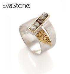 Find more at: www.evastone.eu www.facebook.com/EvaStoneDesign  #EvaStone #jewelry #jewellery  #design #nique #silver #ring #goldplate #rough#diamond #inspiration #nature #trendy #fashion #classy #elegant #woman #sparkling #beauty