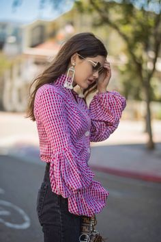 Puffy Sleeves and Gingham
