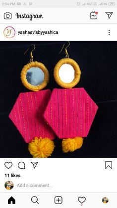 Diy Jewelry Set, Diy Fabric Jewellery, New Jewellery Design, Jewelry Mirror, Textile Jewelry, Handmade Jewelry Designs, Jewelry Crafts, Stylish Jewelry, Handmade Jewellery