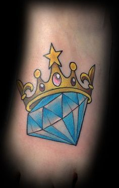 Diamond and Crown tattoo.  Don't care for the style of crown.
