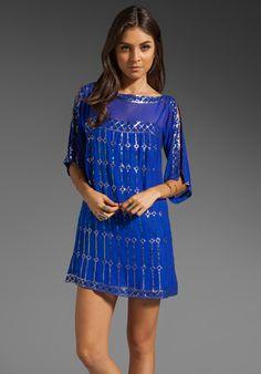 NANETTE LEPORE Dorian Silk Dress in Sapphire at Revolve Clothing