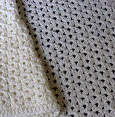 Cluster Stitch Crochet Baby Blanket Pattern