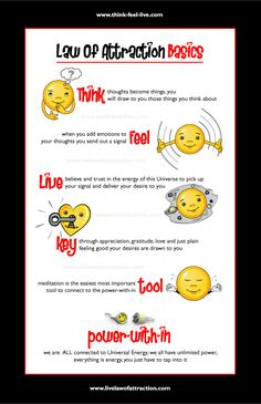 Click the Pin for Awesome Topics on Law Of Attraction Law of Attraction Basics InfoGraphic www.livelawofattr...