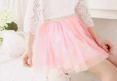 Pink tulle skirt ♡