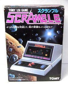 80s Retro TOMY FL LSI Tabletop Game Scramble Boxed MIJ NEW (Tiny Scratch) #TOMY