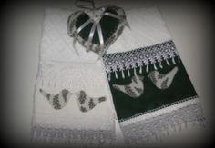 toalha de lavabo em linho e gripir - kit dias das mães!