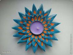 Produse de artizanat Quilling Lotus Flower Lumânare-Hîrtie adeziv benzi 1 fotografie
