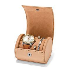 Coffret montre Perfect Boyfriend à trois aiguilles en cuir + bracelet ES3771SET | FOSSIL®