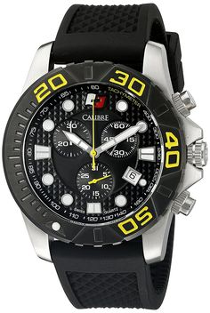 Calibre Men's SC-4A2-04-002 Akron Analog Display Quartz Black Watch *** Check out this great product.