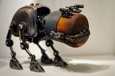 UK – Oxford – Steampunk 02 – Robot pet by Darrell Godliman