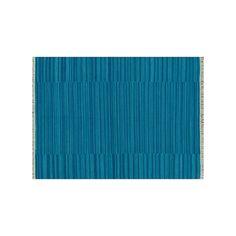 Loloi Anzio Fringe Striped Wool Rug, Blue