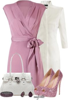 """Wrap Dress HerPanache Contests 1"" by amybwebb on Polyvore"