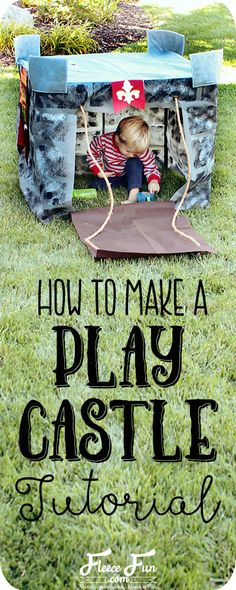 Wow I love this play castle tutorial. Such a great DIY idea for play for kids. Love how it fits onto a card table and folds into a bag when play is done! Craft Projects For Adults, Fun Projects, Sewing Projects, Craft Ideas, Fleece Projects, Kids Crafts, Project Ideas, Easy Sewing Patterns, Sewing Tutorials