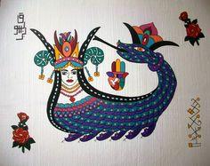şahmeran Ceramic Tile Art, Ottoman, Ancient Near East, Cross Stitch Freebies, My Plate, Calligraphy Art, Ancient Civilizations, Islamic Art, Draco