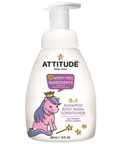 The ATTITUDE Pony brings with her an enchanted world comes bath time with this 3 in 1 Shampoo, Body Wash and Conditioner. With a sweet wild berry scent, hypoallergenic and natural ingredients, ATTITUDE contributes to your baby's comfort and your peace of mind. Made with worry-free ingredients. #ATTITUDEfamily #iliveconsciously