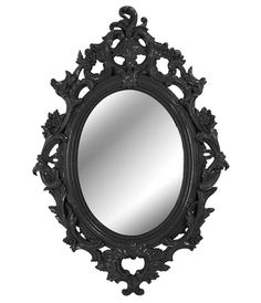 Baroque Oval Mirror Black (6 Other Colours) Furniture, Homewares. Online Store!