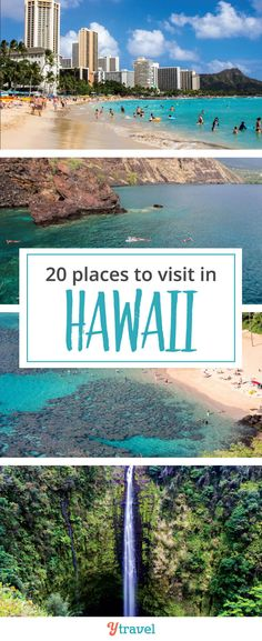 Places to visit in Hawaii. Going to Hawaii is always a good idea, especially if you want to escape the cold of winter in North America. Check out these 20 places to visit in Hawaii for your next vacation. #Hawaii #USA #Waikiki