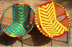 #Colourful #chairs with its refreshing charm would make you jump with cheer!