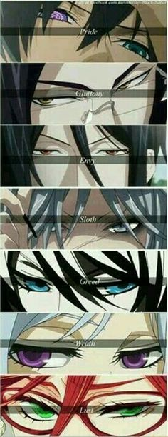 Black Butler eyes