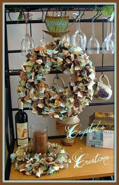 Kitchen rag wreath