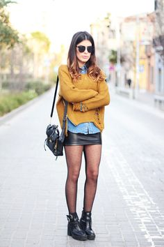20 Style Tips On How To Wear A Leather Skirt This Winter Gurl waysify