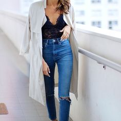 lace body suit | #style