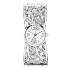 Artisan Leaf Cuff Watch. Avon. You're an earth angel. You have a love for adventure and nature-inspired accessories. Part of the Leaf Me Breathless Collection, the Artisan Leaf Cuff Watch showcases an intricate textured leaf design with an antiqued finish. Regularly $19.99.  NEW & NOW! FREE shipping with any $40 online Avon purchase.  #CJTeam #Avon #Style #Sale #Jewelry #Fashion #Watch #Leaf #Avon4me #C18 #Gift Shop Avon jewelry online @ www.TheCJTeam.com