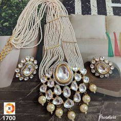 Unique Kundan piece with beads. Perfect for weddings and parties. From our Royal rajasthan collection! Indian Jewelry Sets, Indian Wedding Jewelry, India Jewelry, Bridal Jewelry, Ruby Jewelry, Jewelry For Her, Silver Jewelry, Jewlery, Diamond Jewellery