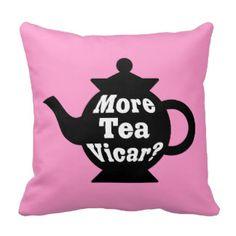 Théière - plus de curé de thé ? - Noir et blanc su Oreillers