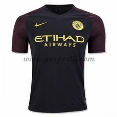 maillot de foot Premier League Manchester City 2016-17 maillot extérieur