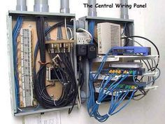 whole house structured wiring networking set ups cabinets rh pinterest com home wiring cat5e vs cat6 wire house cat5