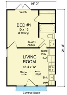Cottage - 395 sq ft
