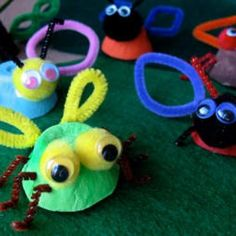 DIY Kids Crafts : DIY Egg Cup Insects