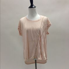 Drapey blush colored top with sequins Perfect with leggings or shorts! The light blush color and sequins makes this a super cute girly shirt you can wear all summer long :) Urban Outfitters Tops
