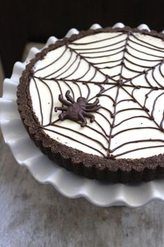 Spider Web Cheesecake Tart - The Little Epicurean