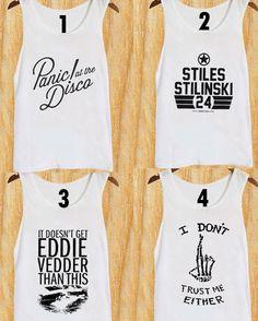 panic at the disco Tank top shirt doesn t get eddie by TopsTanktop Eddie  Vedder 7c03f9c4bce9b