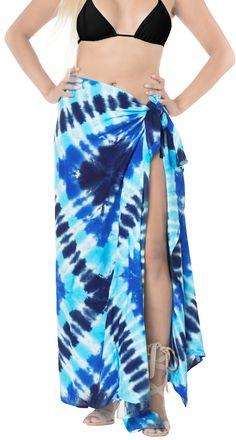 aff531356df9b LA LEELA Rayon Aloha Bali Cover Up Pareo Sarong Tie Dye 78