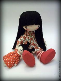 Человечки ручной работы. Ярмарка Мастеров - ручная работа Девочка Иди с куколкой ...... Handmade.