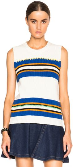 MSGM Striped Sleeveless Sweater women fashion outfit clothing style apparel @roressclothes closet ideas