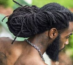 men's updo with dreadlocks