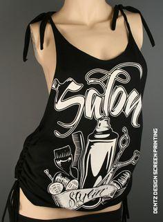 Salon Stylin / Tattoo Black Salon Stylist Hair Tank Tshirt Cut Racerback beauty gift girls night life love. $29.00