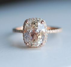 Captivating & Beautiful Rose Gold Engagement Rings see more at http://www.wantthatwedding.co.uk/2015/05/10/captivating-beautiful-rose-gold-engagement-rings/