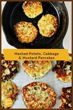 With a sweet, heartening flavour, these vegetable pancakes are great comfort food and quick to mix up using leftover mashed potatoes and zesty mustard. Serve alongside grilled sausages or chops for a hearty supper. Pancake Recipe For Kids, Cabbage Recipes, Potato Recipes, Brunch Recipes, Appetizer Recipes, Salad Recipes, Burger Recipes, Easter Recipes
