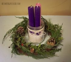 advent wreath get clippings from Lowe's                                                                                                                                                                                 More