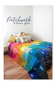Patchwork, a PDF pattern, is a collection of quilts that celebrate effective color placement using a spectrum of color. Full images of six simple patchwork style quilts plus cutting instructions ar… Colchas Quilting, Quilting Projects, Quilting Designs, Sewing Projects, Machine Quilting Patterns, Modern Quilting, Quilting Ideas, Patchwork Quilt Patterns, Batik Quilts