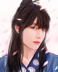 Now I know this isn't a part of BTS.But it is still a glorious V drawing so. Hwarang Taehyung, Taehyung Fanart, Jimin, Bts Bangtan Boy, Foto Bts, V Hwarang, Jikook, V Chibi, Bts Kim