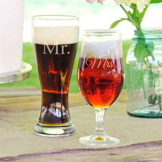 Cathys Concepts His and Hers Pilsner Set