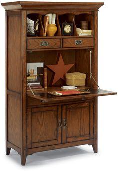 Flexsteel Furniture: Desks: Las CrucesDrop Front Computer Desk (6595-051S)